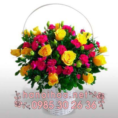 Giỏ hoa GH07